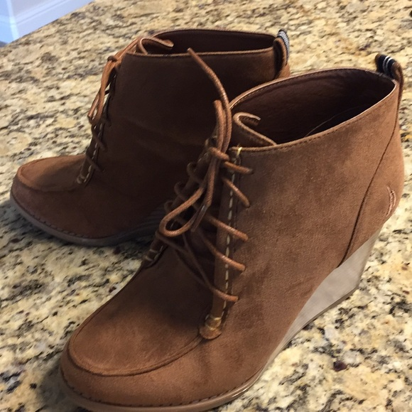 a6325469af8 Nautica wedge ankle boot